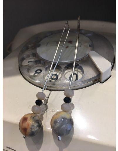 Κρεμαστά σκουλαρίκια με ημιπολύτιμες