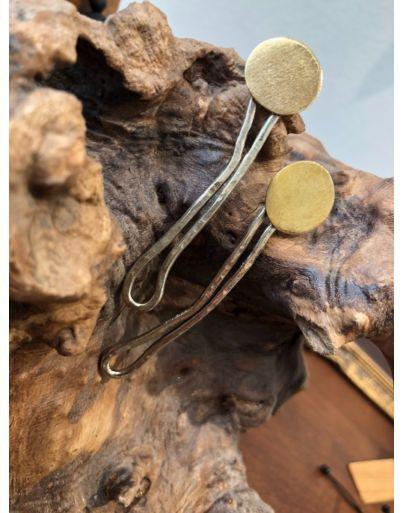 Δίχρωμο σκουλαρίκι