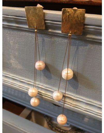 Σκουλαρίκια με μαργαριταράκια