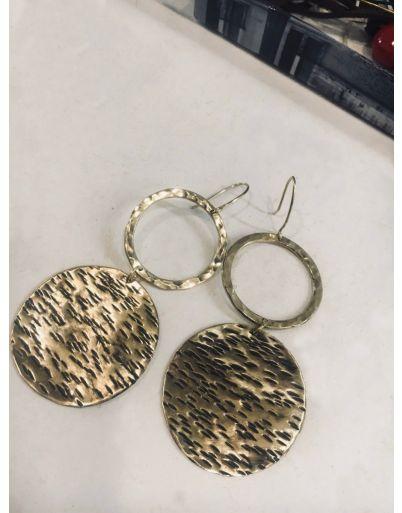 Σκουλαρίκια κρεμαστά με κύκλους