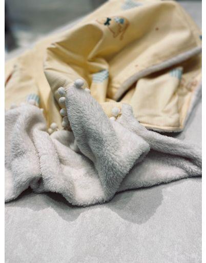 Fluffy yellow κουβερτούλα